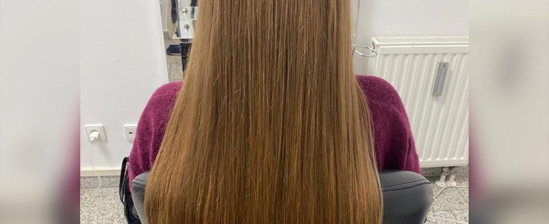 Haarverdichtung mit 100 Strähnen