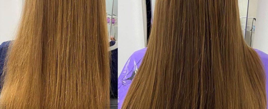 Haarverdichtung mit ukrainischen Echthaar
